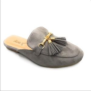 Shoes - ADORABLE GREY MULES